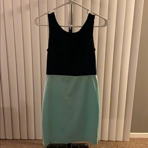 Solid Blue Casual Dress